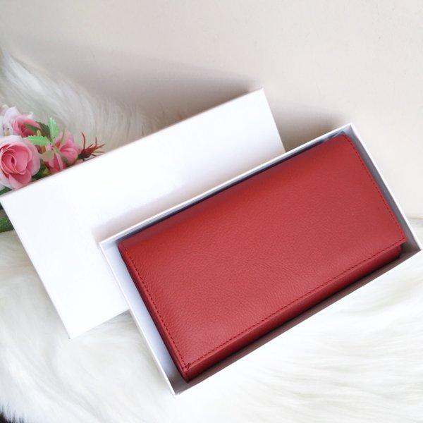Портмоне Естествена Кожа - Модел J016 RED